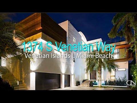 Venetian Islands Miami Beach Modern Waterfront Home   1374 S Venetian Way