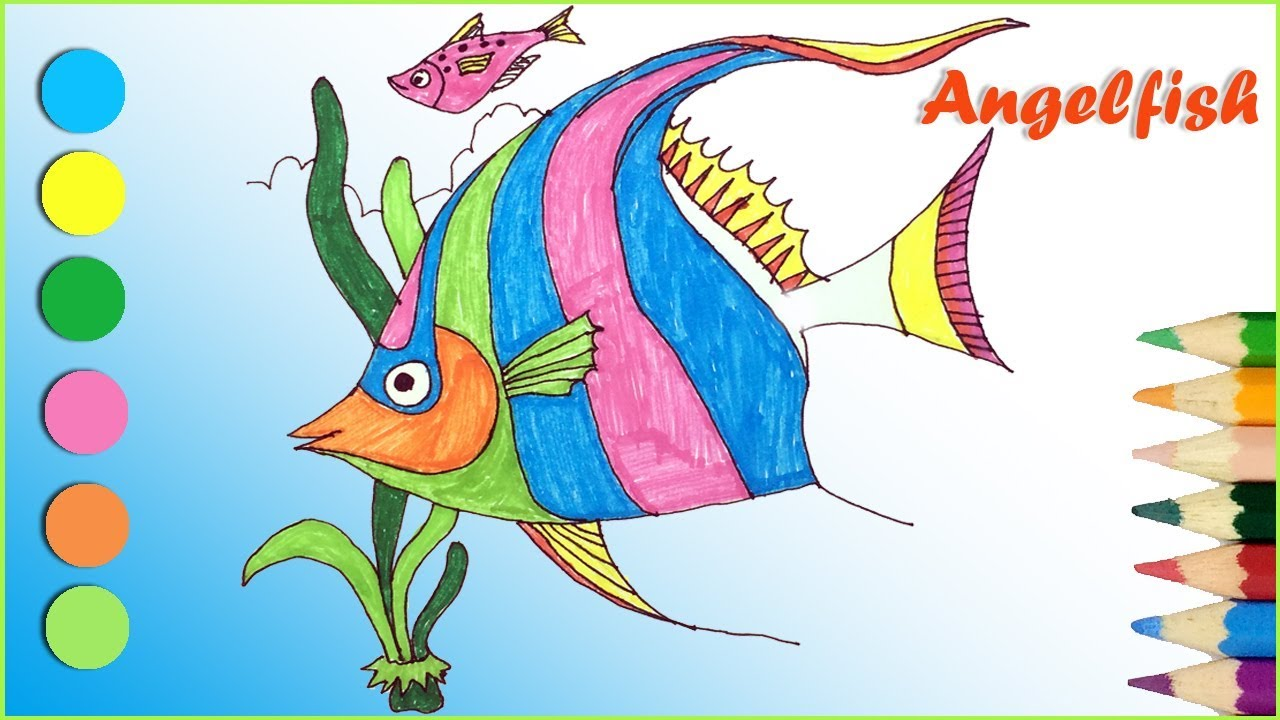 Angelfish coloring page - Animals Town - Animal color sheets ... | 720x1280