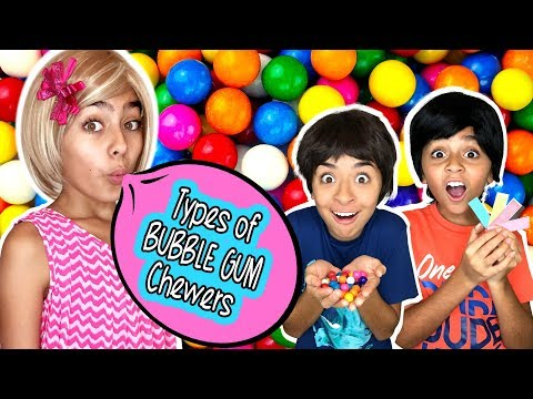 Types of Bubble Gum Chewers - Funny Skits // GEM Sisters
