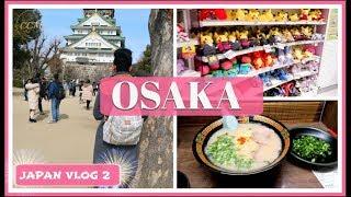 OSAKA VLOG 1 | OSAKA CASTLE, POKEMON CENTER, SHINSAIBASHI SHOPPING, DOTONBORI AND ICHIRAN RAMEN