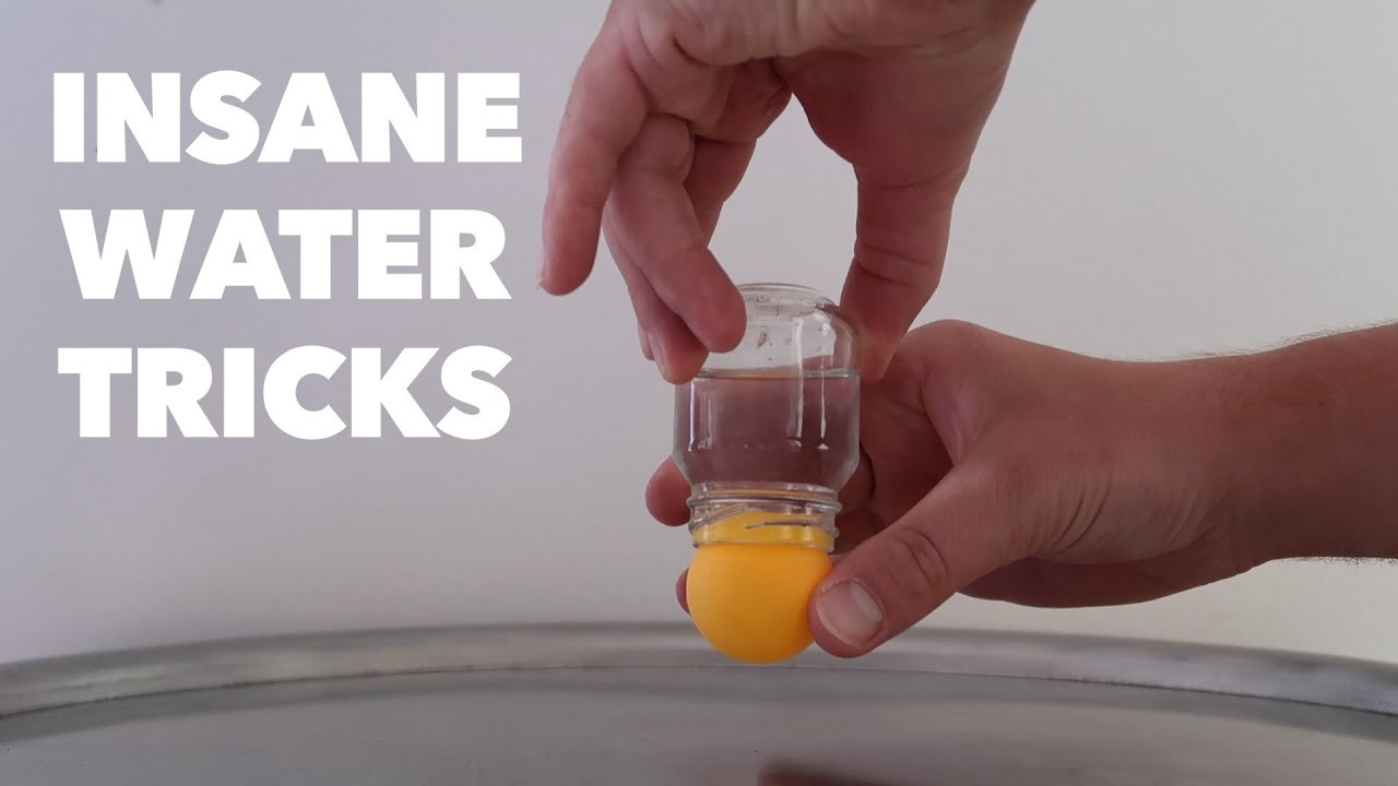 5 CRAZY WATER TRICKS. Amazing MAGIC tricks using liquid ...