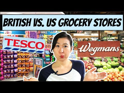 US VS. BRITISH GROCERY STORES!! 😊