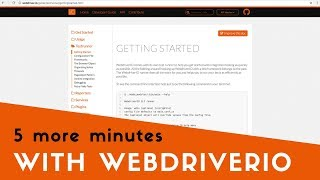 5 more minutes with webdriverio the wdio test runner
