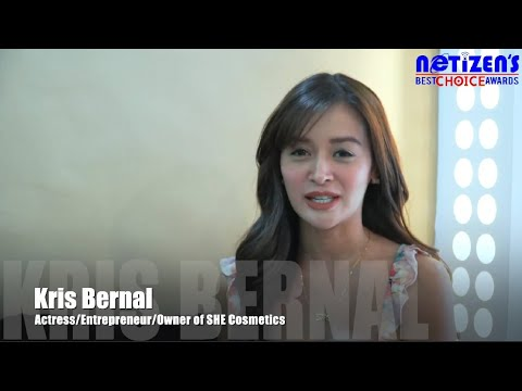 Ms. Kris Bernal and SHE Cosmetics Awarded by the Netizens Best Choice Awards