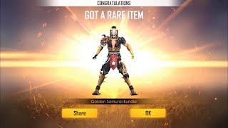 HOW TO GET GOLDEN SAMURAI BUNDLE IN INCUBATOR !! FREE FIRE