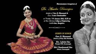 Bharatanatyam Arangetram of Dr. Anusha Devarajan