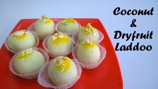 Coconut Dry Fruit Ladoo recipe in Hindi By Cooking with Smita