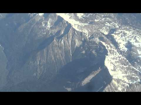 Toronto-to-Vancouver flight: takeoff, southern BC Rockies, coast range, touchdown 2011-09-04