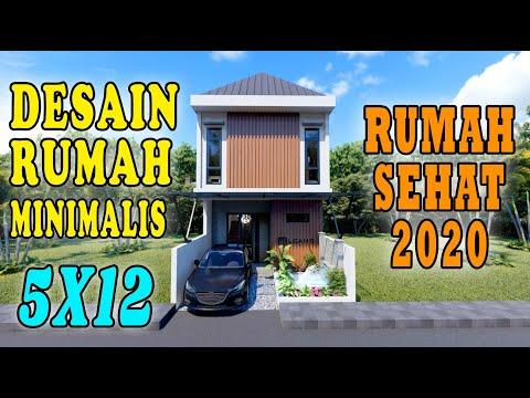 DESAIN RUMAH 5X12 MINIMALIS TROPIS, RUMAH SEHAT 2020 !!! DESIGN BY ORLEANS STUDIO
