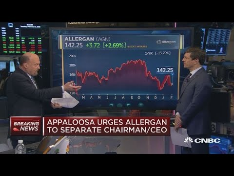 Hedge fund Appaloosa urges Allergan to separate the roles of chairman and CEO positions