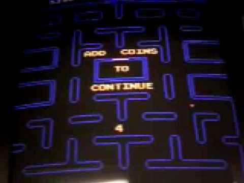Pac-Man Game Over Screen And Demo Screen (hidden In The 2001 Ms. Pac-Man/Galaga Machine Re-release)