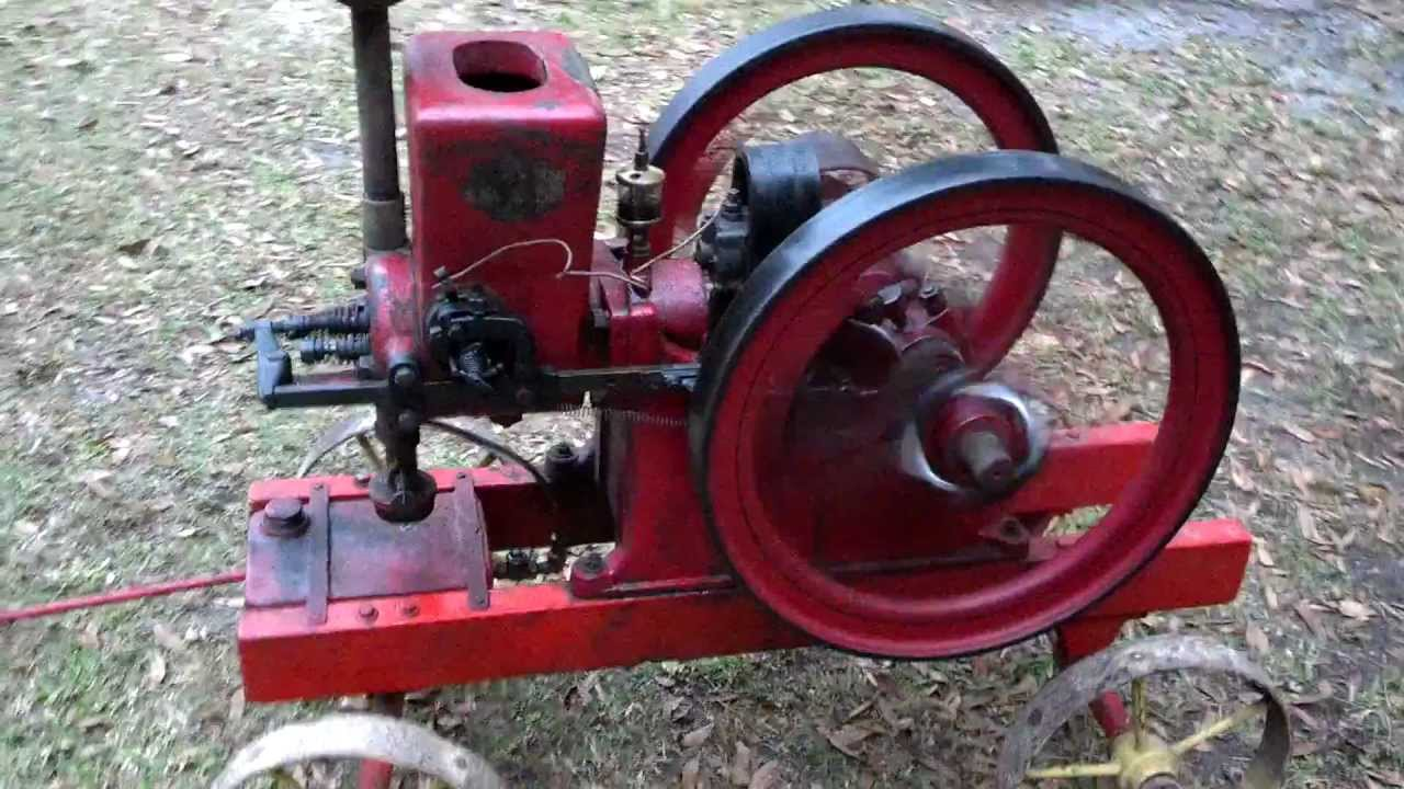 2 1 2 hp associated hired man hit miss engine youtube for 1 2 hp motor
