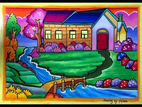 Cara Gradasi Warna Ep 56 Tema Cara Mudah Menggambar Rumah Yang Cantik