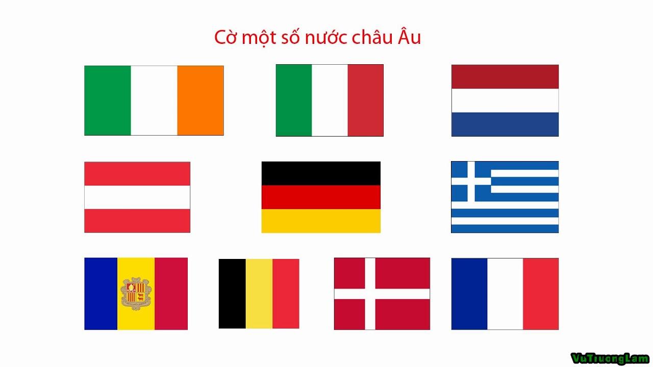 [Con Học Bài] Cờ các nước châu Âu P1