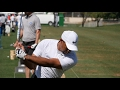 FIRST LOOK - Tiger Woods on the range at Dubai Desert Classic の動画、YouTube動…