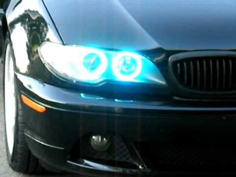 Multi Color Angel Eyes on BMW 330ci Facelift Coupe