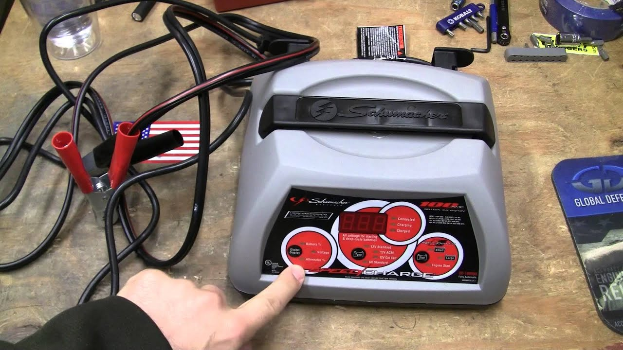 hight resolution of schumacher battery charger repaired