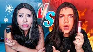 DESAFIO com MAKES CONGELADAS vs DERRETIDAS!!! (Ft. Ingrid Ohara)