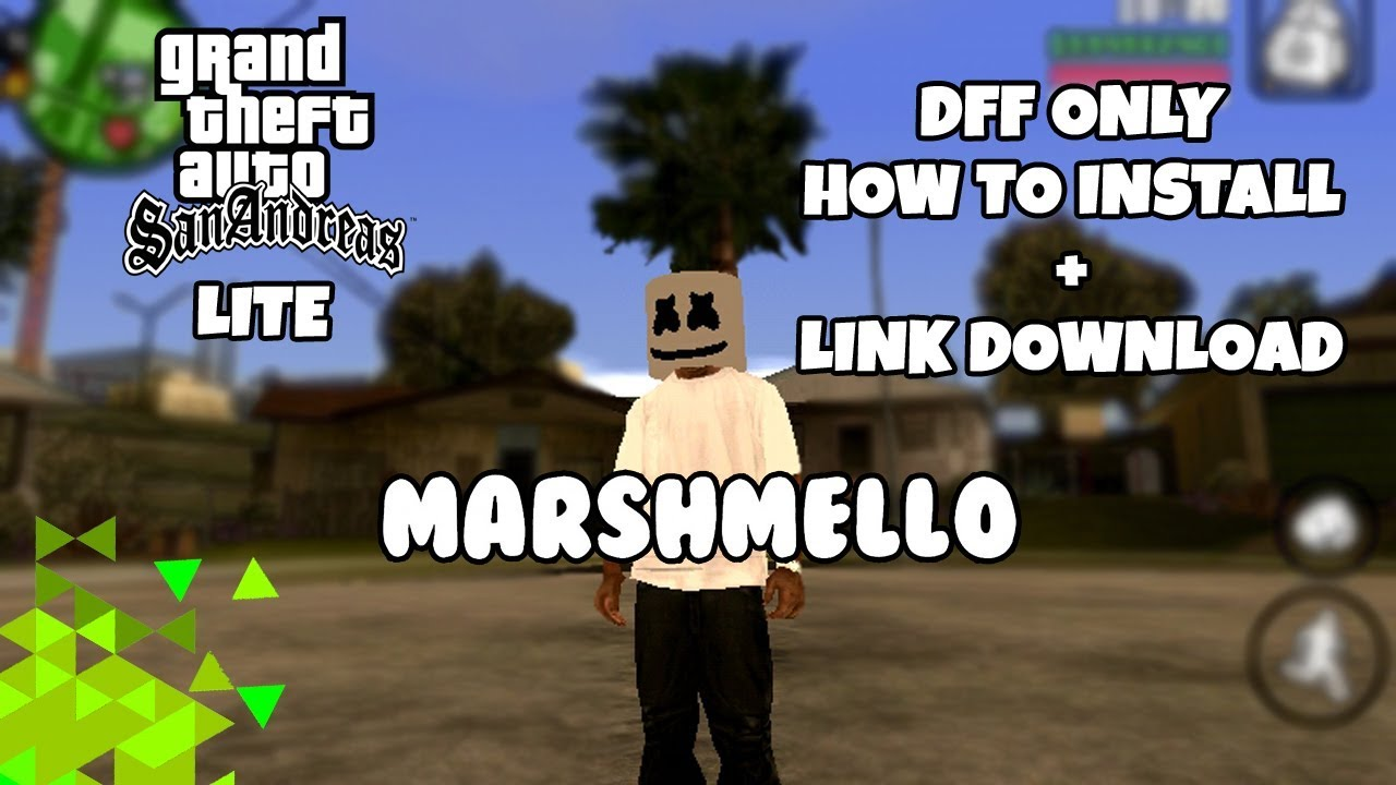 Gta Sa Lite Mod Marshmello Helmet Dff Only How To Install Link