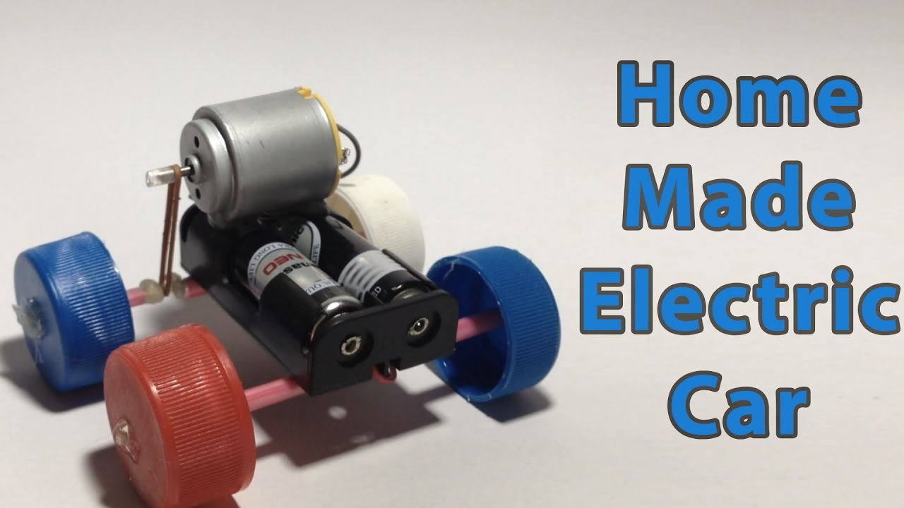 How to make a simple electric car at home - YouTube