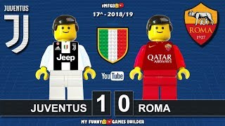 Juventus - Roma 1-0 • Serie A 2018/19 • (22/12/18) All Goal Highlights Lego Football Sintesi Calcio