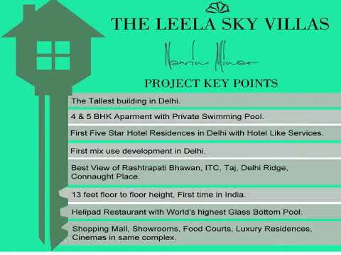 Navin Minar Delhi - Location Advantages of Luxury Leela Residences