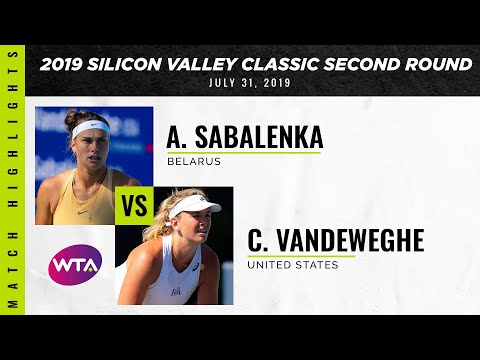 Aryna Sabalenka vs. Coco Vandeweghe | 2019 Silicon Valley Classic Second Round | WTA Highlights