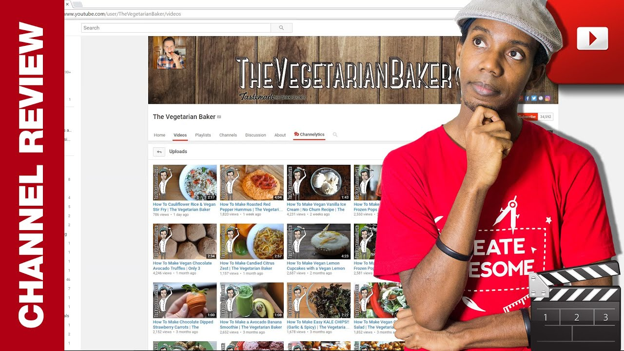 YouTube Channel Review: The Vegetarian Baker | Cooking ...
