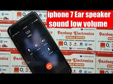 iphone 7 Ear speaker sound low | Pardeep Electronics