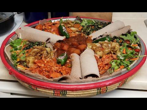 Ethiopian Food – Yetsom  Beyaynetu-(Vegan Dish)-የጾም በያይነቱ