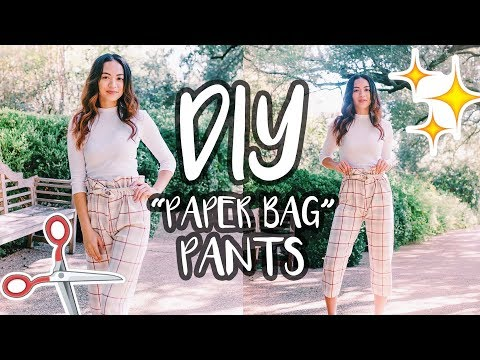 DIY PAPER BAG PANTS  |  For Beginners