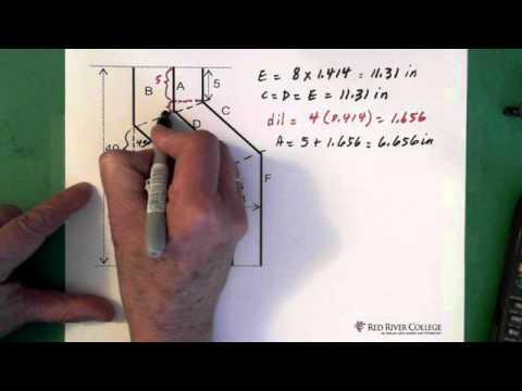 5. Plumbing: 45º Parallel Offset: Using Constants