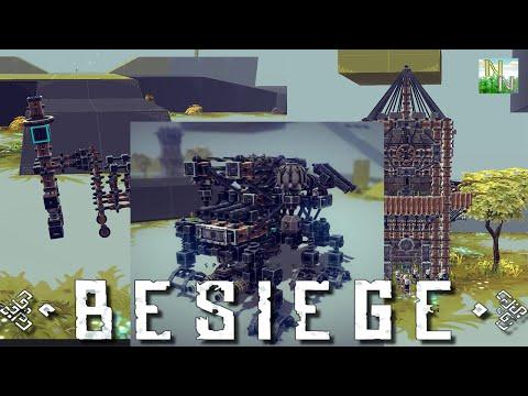 Корзинщик, Часы и потрясающий Шагоход Besiege V0.09
