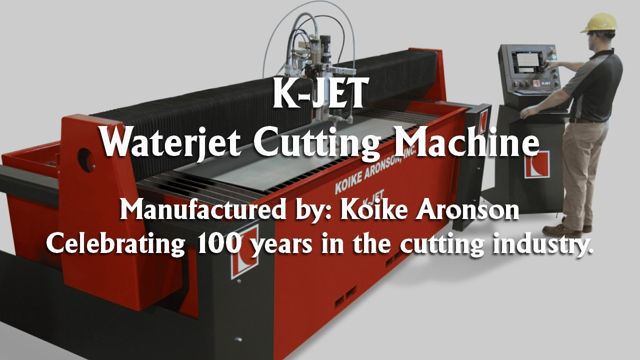 waterjet cutting machine kjet video koike aronson - Aronson Furniture