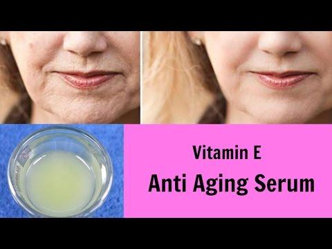 DIY Vitamin E Anti Aging Serum, Glowing