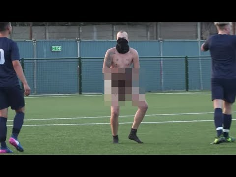 ARSENAL FAN TV VS REBEL FC - WE HAD A STREAKER