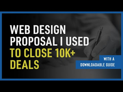 The Exact Web Design Proposal I Use ($12,000+ Project)