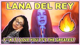 Lana Del Rey - F**k It I Love You & The Greatest (Official Video) REACTION