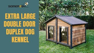 XL Double Door Dog Kennel – The Duplex by Somerzby