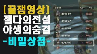 [꿀잼영상] 젤다의전설 브레스 오브 와일드 : 비밀상점을 오픈해봅시다~ (feat. 시자기마을)