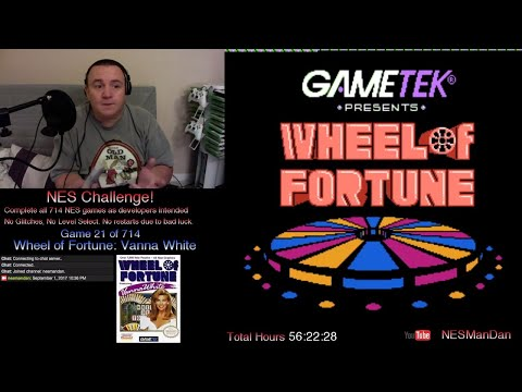021 Wheel of Fortune: Vanna White - The NES Challenge - NES Man Dan