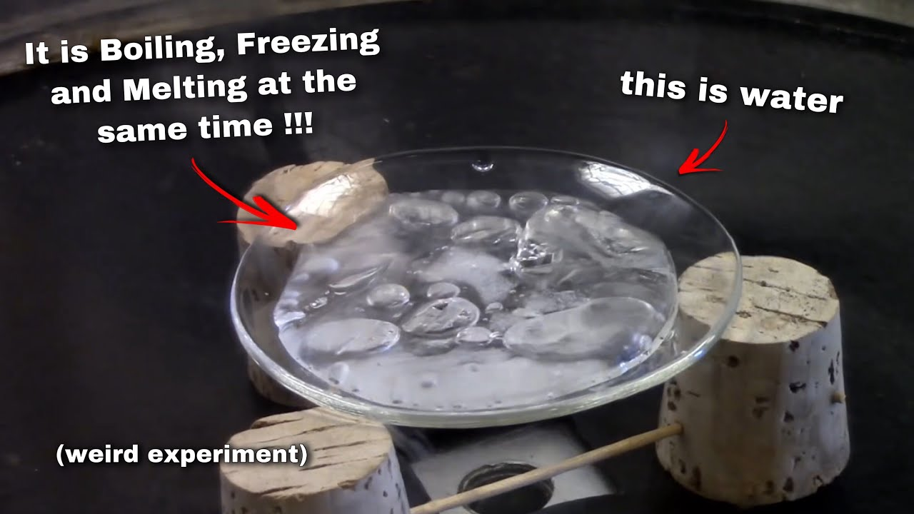 This liquid is boiling, freezing and melting at the same time (weird  experiment) - YouTube