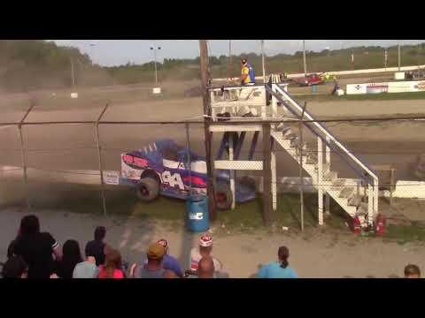 Genesee Speedway Huge Sportsman Crash Through Flagstand 9-17-17