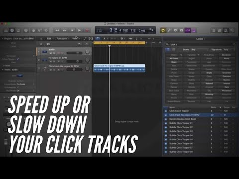 How to Speed up or Slow down Click Tracks in Logic Pro X