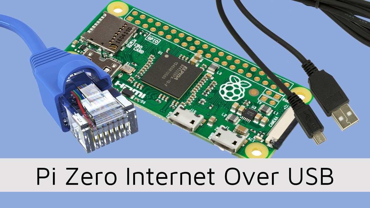 Connect Pi Zero to Internet Over USB Ethernet Connection