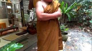 หลวงพี่หมูบวช ที่วัดป่าสุคะโต