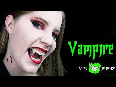 ✅EASY LAST MINUTE GLAM VAMPIRE & VAMPIRE BITE MARKS (Halloween Beauty Makeup Tutorial)
