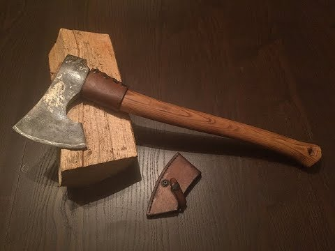 Modifying and making the perfect axe for my hiking trips