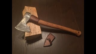 Modifying and making the perfect axe for my hiking trips.