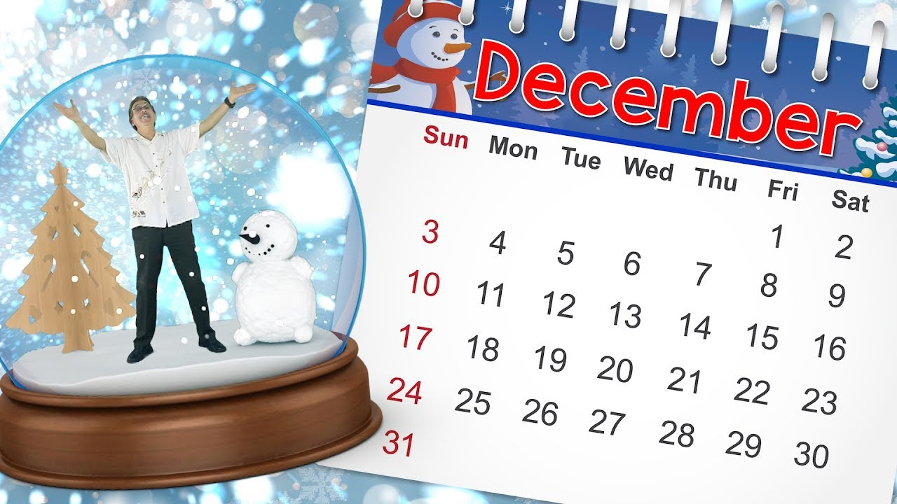 december calendar song for kids month of the year song